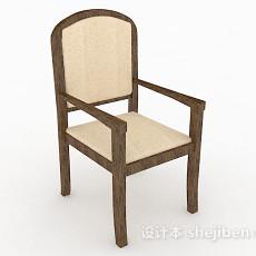 木质简单家居椅3d模型下载