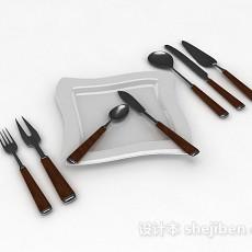 刀叉餐具3d模型下载