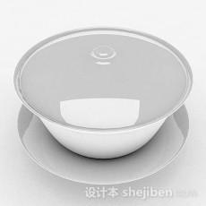 白色茶具3d模型下载