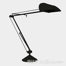 黑色台灯3d模型下载