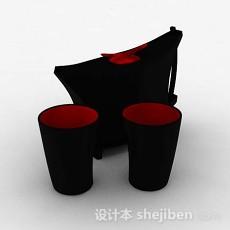 黑色简约杯具3d模型下载