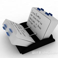 白色便签纸3d模型下载