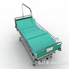 医院移动病床3d模型下载