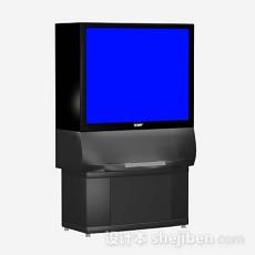 简约电视机3d模型下载