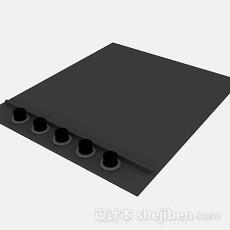 黑色电磁炉3d模型下载
