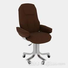 棕色办公椅3d模型下载