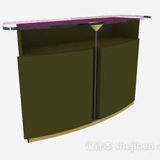 绿色班台3d模型下载