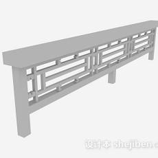 中式灰色栏杆3d模型下载