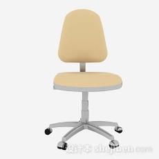 黄色办公椅3d模型下载
