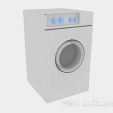 灰色洗衣机3d模型下载