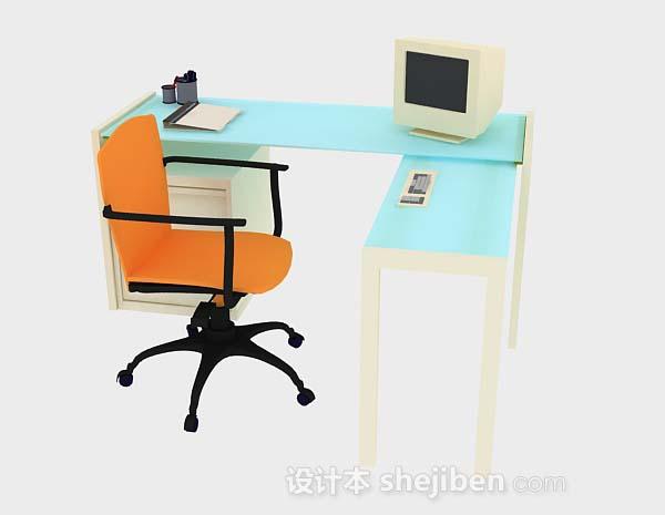 简约办公桌椅组合