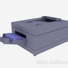 紫色打印机3d模型下载