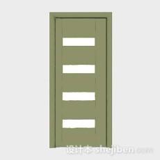绿色木质家居门3d模型下载
