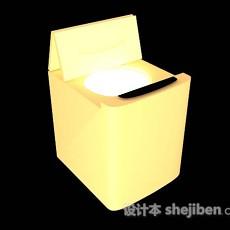 黄色洗衣机3d模型下载