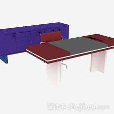 办公桌3d模型下载