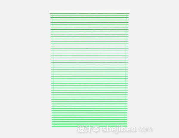 绿色百叶窗帘