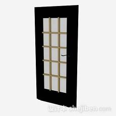 棕色木质家居门3d模型下载