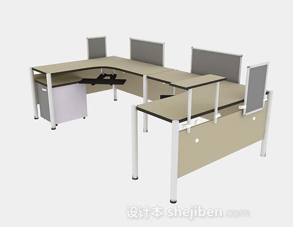 棕色办公桌