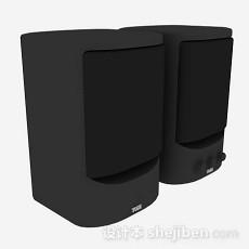 黑色小音箱3d模型下载