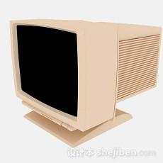 黄色台式电脑3d模型下载