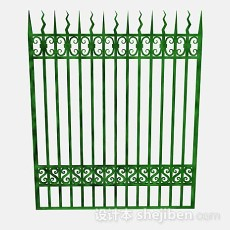绿色铁栏杆3d模型下载