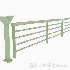 绿色栏杆3d模型下载