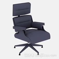 紫色办公椅3d模型下载
