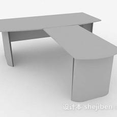 灰色办公桌3d模型下载