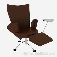 简约棕色休闲椅3d模型下载