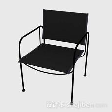 简约黑色家居椅子3d模型下载