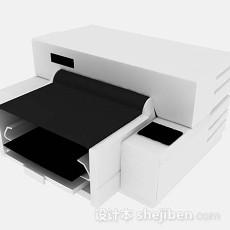 白色打印机3d模型下载