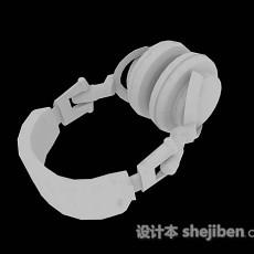 白色耳机3d模型下载