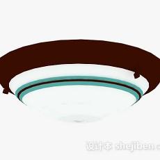 圆形吸顶灯3d模型下载