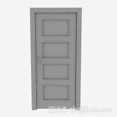 木质简约家居门3d模型下载