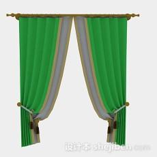 绿色家居窗帘3d模型下载