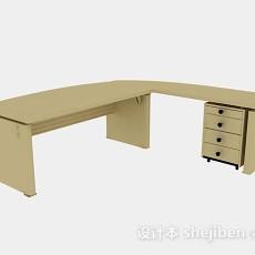 黄色办公桌3d模型下载