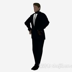 西装服男性3d模型下载