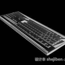 灰色键盘3d模型下载