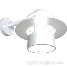 白色壁灯3d模型下载