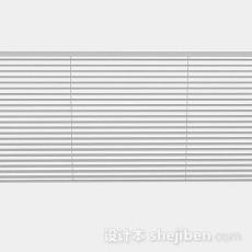 灰色百叶窗帘3d模型下载