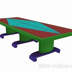 会议桌3d模型下载