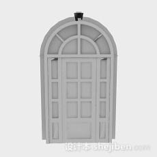 灰色拱形门3d模型下载