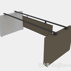 棕色隔板3d模型下载