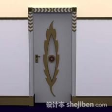 个性木质门3d模型下载