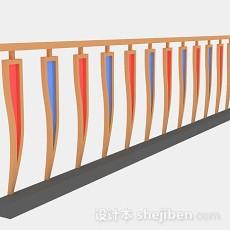 黄色个性栏杆3d模型下载