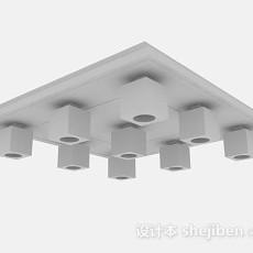 灰色吸顶灯3d模型下载