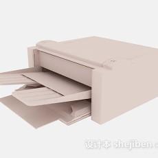 米黄色打印机3d模型下载