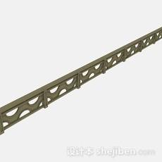 棕色栏杆3d模型下载
