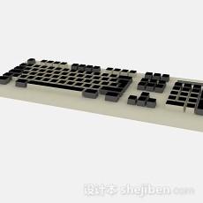 棕色电脑键盘3d模型下载