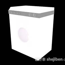 白色洗衣机3d模型下载